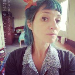 Gracias Candoya :) Hair Color Green Tropical - Stargazer | Color-Mania
