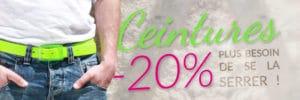 20% de réduction sur les ceintures ! | Color-Mania