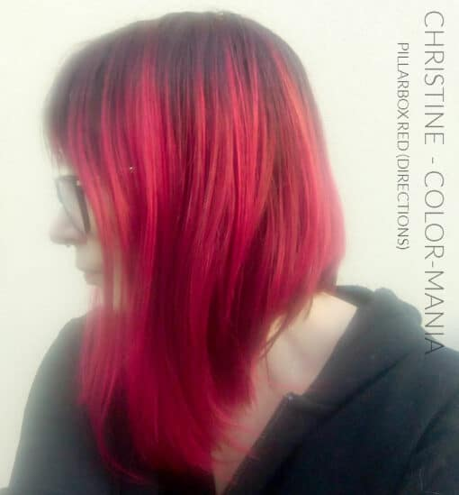 """Merci Christine :) Coloration Cheveux Rouge """"Pillarbox"""" – Directions 