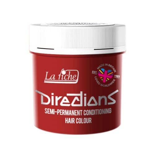 """Coloration Cheveux Rouge """"Pillarbox"""" – Directions 