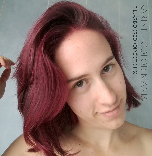 "Merci Karine :) Coloration Cheveux Rouge ""Pillarbox"" – Directions - Sur base naturelle 