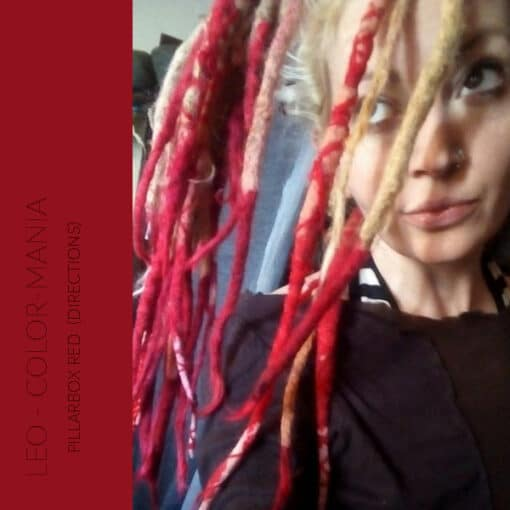 "Merci Leo :) Coloration Cheveux Rouge ""Pillarbox"" – Directions | Color-Mania"