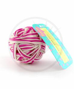 Pelota de 99 Hair Roses Pink & White | Color-Mania