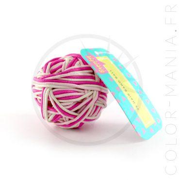 Balle de 99 Elastiques Cheveux Roses & Blanc | Color-Mania