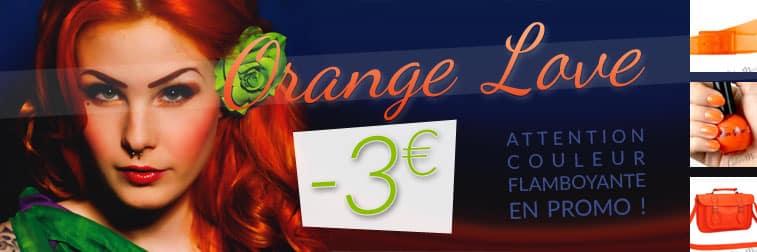 couleur orange promo color-mania coloration cheveux sac vernis a ongles ceinture