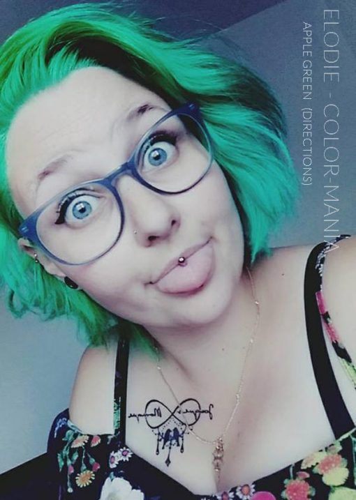 Merci Elodie :) Coloration Cheveux Vert Pomme – Directions   Color-Mania