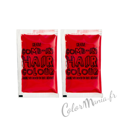 comb in coloration cheveux temporaire rouge 3 - Coloration Temporaire Rouge