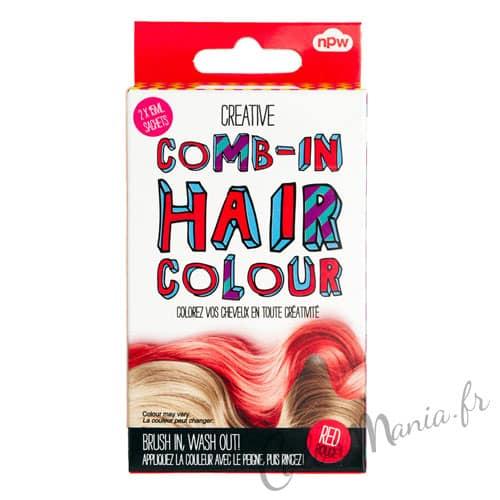 Couleur rouge cheveux ephemere