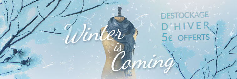 Winter is Coming : 5€ offerts sur le Déstockage Hiver ! | Color-Mania