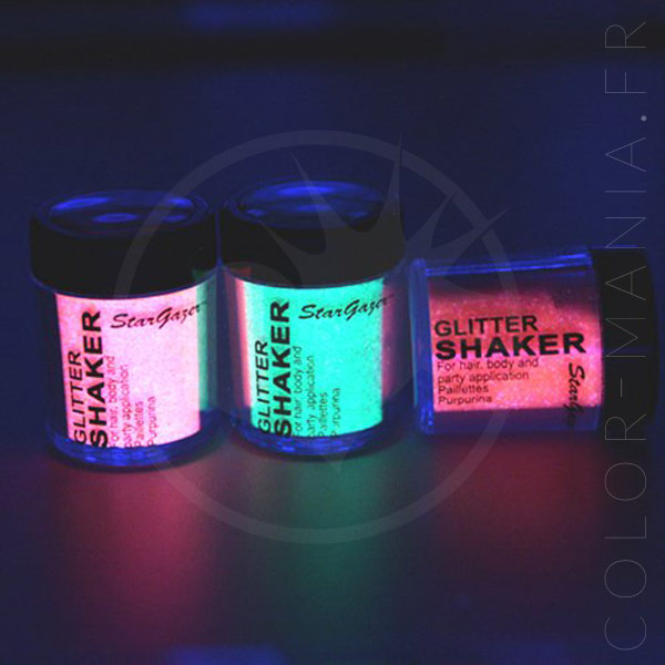 Paillettes 'Glitter Shaker' - Phosphorescent UV | Color-Mania