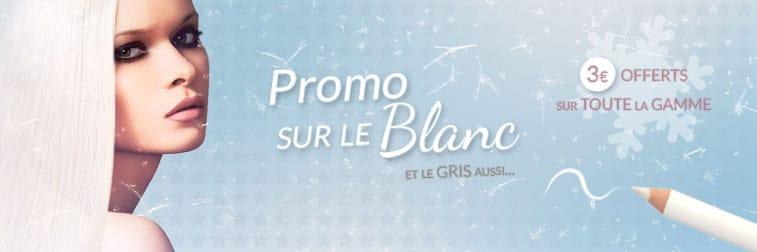 Blanc & Gris : 3€ offerts pour la couleur du mois ! | Color-Mania