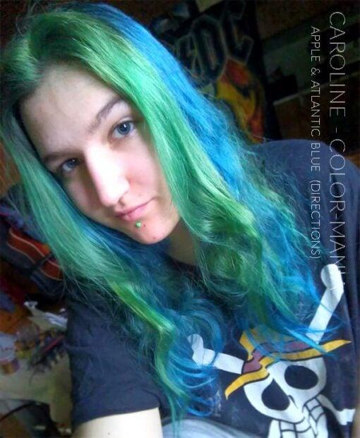Merci Caroline :) Coloration Cheveux Vert Pomme – Directions | Color-Mania