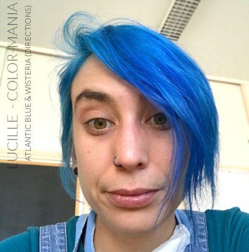Merci Lucille :) 1 pot de Coloration Cheveux Bleu Atlantique + 1/2 pot de Wisteria Directions - Pour neutraliser les reflets blonds | Color-Mania