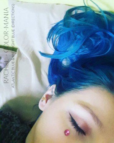 Merci Rachel :) Coloration Cheveux Bleu Minuit - Directions | Color-Mania