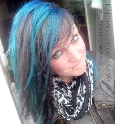Merci Karnage :) Coloration Cheveux Bleu Atlantique - Directions | Color-Mania