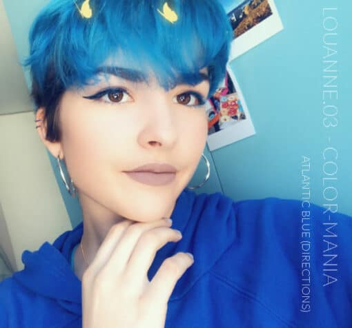 Merci Louanne.03 :) Coloration Cheveux Bleu Atlantique - Directions | Color-Mania