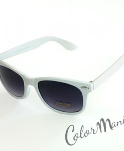 Lunettes type Wayfarer Unies Blanches