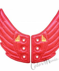 Alas rosadas fucsias para los zapatos de Shwings