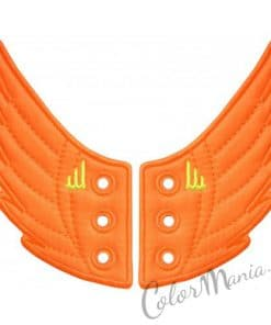Ailes Orange Fluo pour Chaussures Shwings