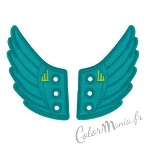Ailes Turquoises pour Chaussures Shwings