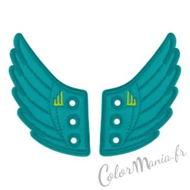 Ailes Turquoises pour Chaussures Shwings 1