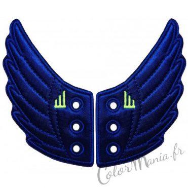 Ailes Bleu Electrique pour Chaussures Shwings 1