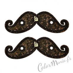 Moustaches Paillettes Noires pour Chaussures Shwings
