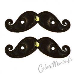 Moustaches Noires pour Chaussures Shwings