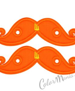 Moustaches Orange Fluo para zapatos Shwings