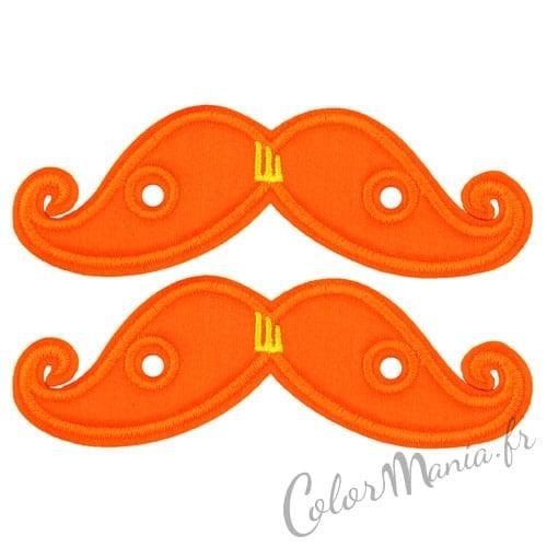 Moustaches Orange Fluo pour Chaussures Shwings
