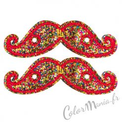 Bigotes multicolores del brillo para los zapatos de Shwings