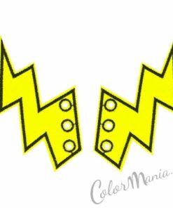 Eclairs amarillo fluorescente para zapatos Shwings