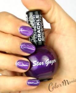 Vernis à Ongles Craquelé Violet Violent - Stargazer