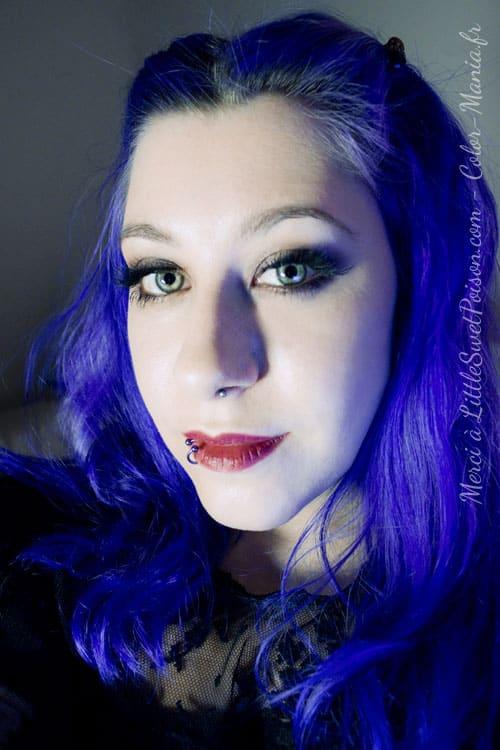 coloration cheveux bleu electrique directions color mania. Black Bedroom Furniture Sets. Home Design Ideas