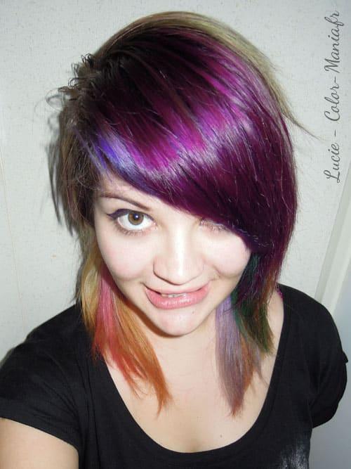 Coloration cheveux violet prune directions color mania - Coloration rouge sur cheveux bruns ...