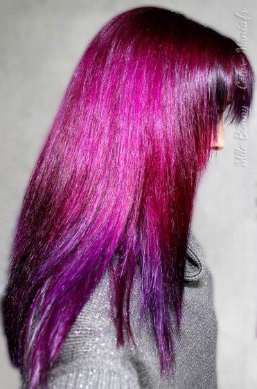 Coloración del cabello púrpura - Direcciones