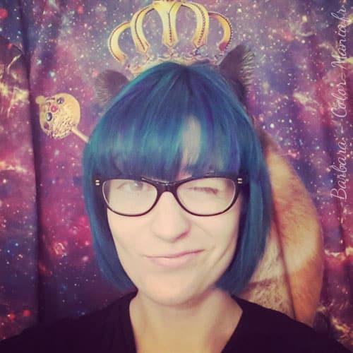 coloration cheveux bleu electrique directions color mania - Dcolorer Cheveux Colors