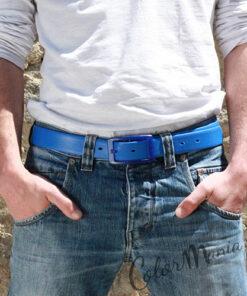 Cinturón azul de silicona