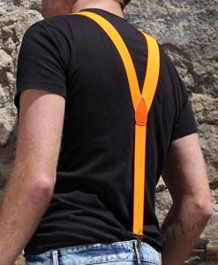 Bretelles Couleur Orange Fluo