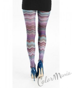 Collants Fantaisie Zig-Zag Colorés