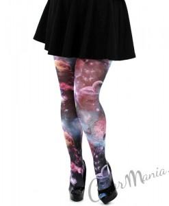 Collants Fantaisie Imprimé Galaxie  - Grande Taille