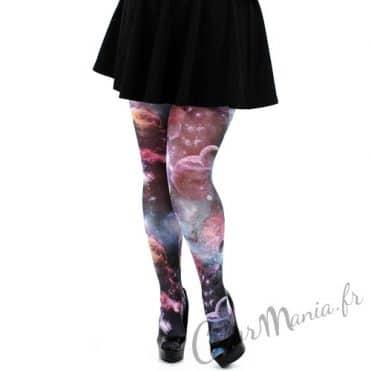 Collants Fantaisie Imprimé Galaxie  – Grande Taille 1