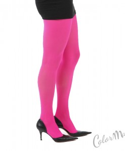 Collants Unis Couleur Rose Fuchsia