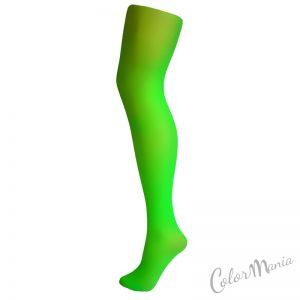Collants Unis Couleur Vert Fluo