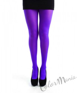 Collants Unis Couleur Violet Royal