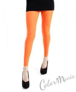 Collants Sans Pieds - Orange Fluo