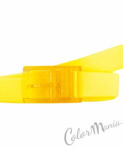 Cintura in silicone giallo limone