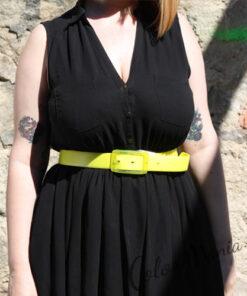 Cinturón de silicona amarillo limón