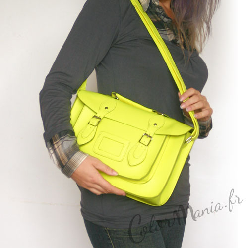 satchel sac main vert fluo color mania. Black Bedroom Furniture Sets. Home Design Ideas