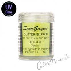 Paillettes 'Glitter Shaker' avec Gel Fixateur - Jaune UV
